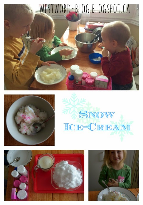 recipe for snow ice cream