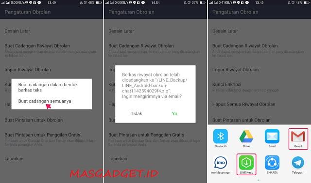 Cara Mudah Backup dan Restore Obrolan Chat di LINE Android