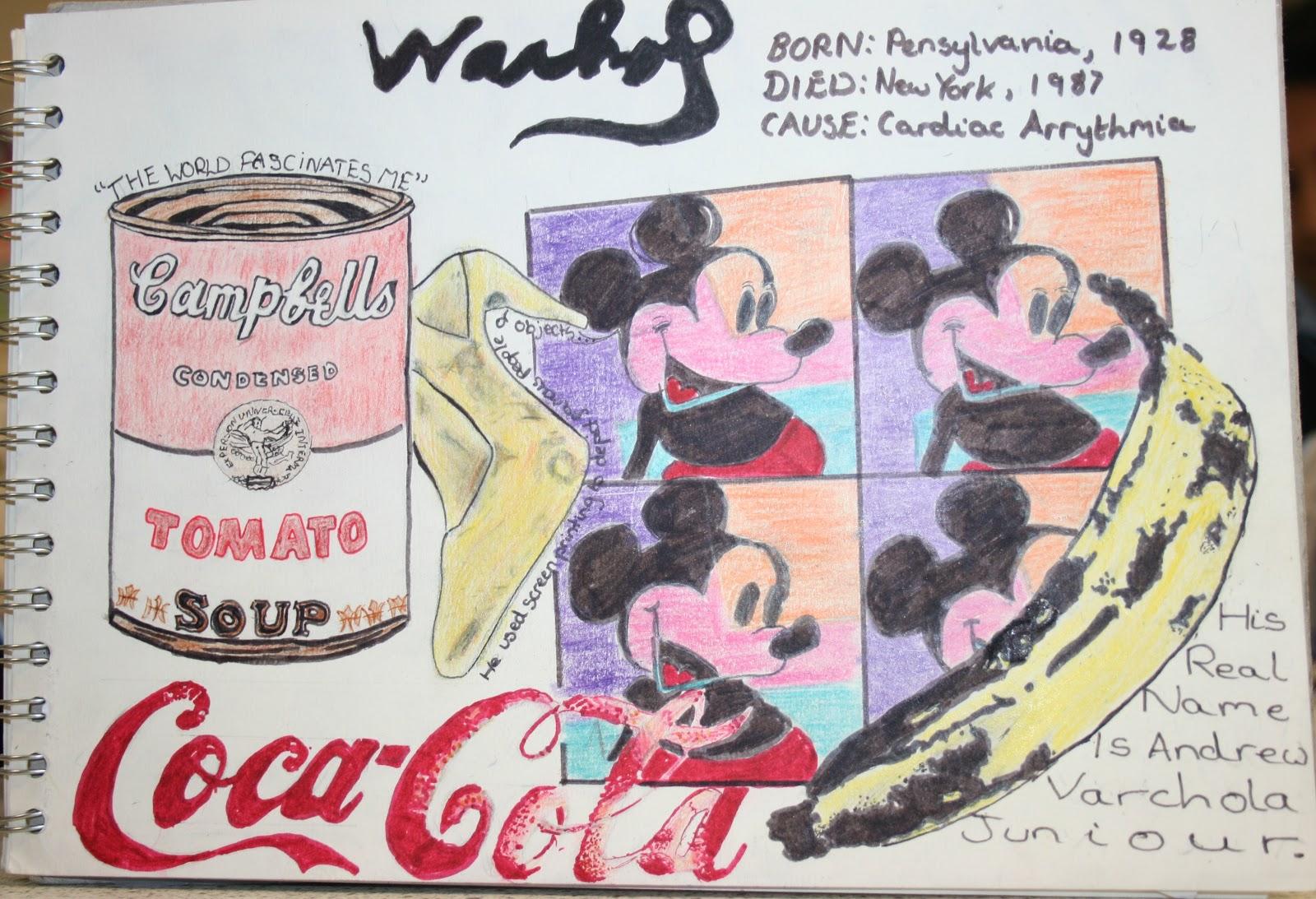 Leicester High School For Girls Art Year 8 Pop Art