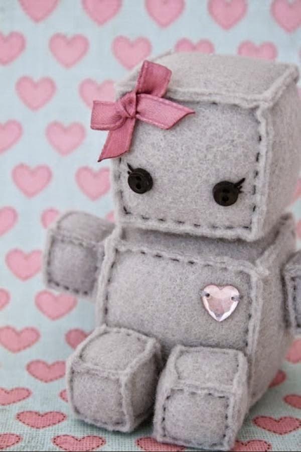 Cara Membuat Kerajinan Dari Bahan Tekstil : membuat, kerajinan, bahan, tekstil, Kerajinan, Tangan:, Membuat, Tangan, Flanel, Boneka, Robot