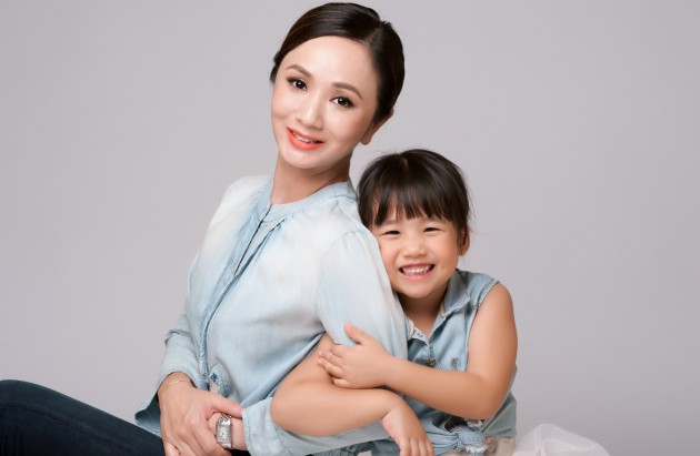 Diana Ser made a series of videos starring daughter Jaymee (both above), her youngest child, for her online portal.