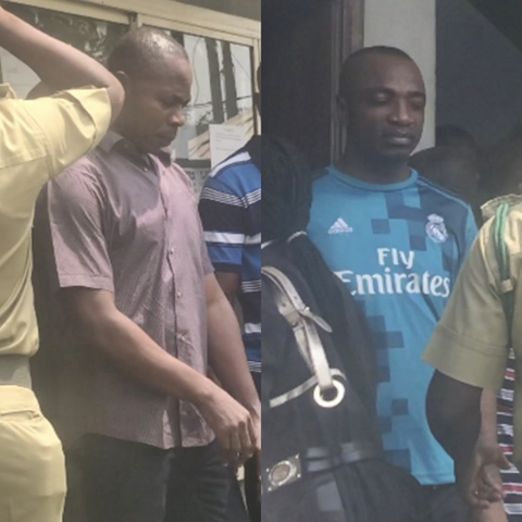 See Faces of Men Who Imported 440 Pump Action Riffles As They Appear In Court