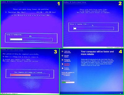 Proses Selanjutnya Format Hardisk dan Lanjutan Instalasi Windows