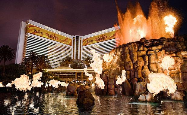 Volcano show in Las Vegas