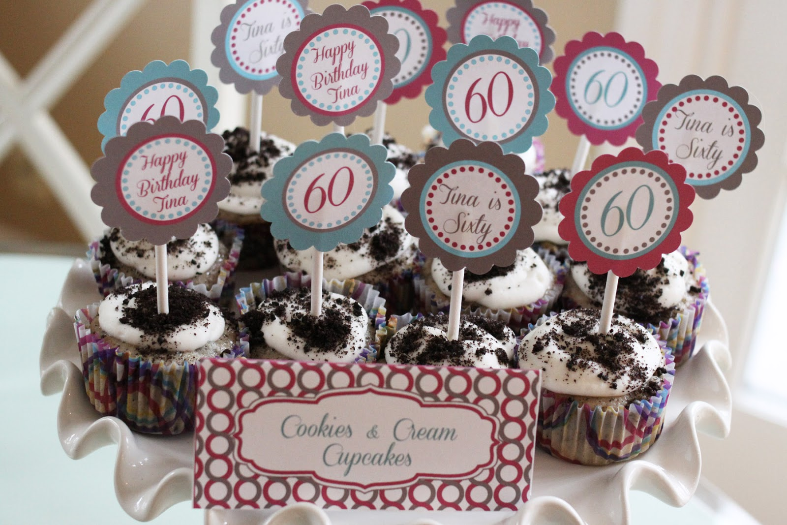 The Larson Lingo A Surprise 60th Birthday Party Cupcakes