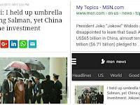 Memalukan, Media Asing Ikut Gosipkan Keluhan Jokowi Payungi Raja Salman