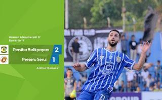 Persiba Balikpapan Kalahkan Perseru Serui 2 - 1 Liga 1 Minggu 6/8/2017