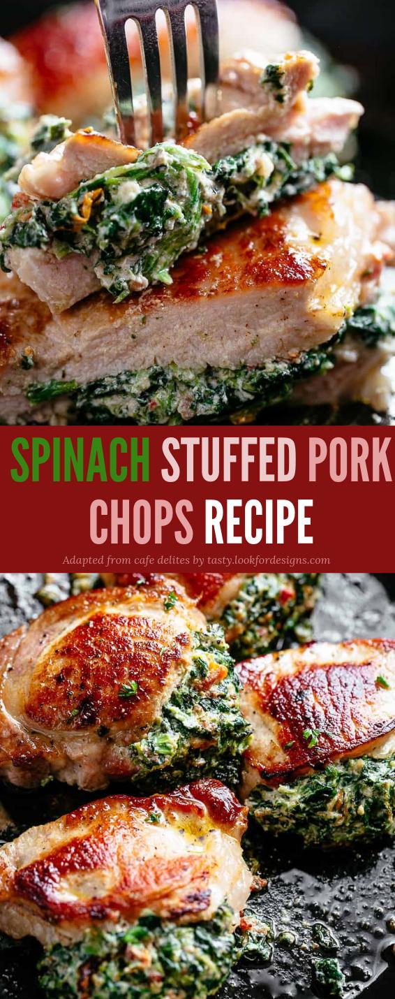 Spinach Stuffed Pork Chops Recipe