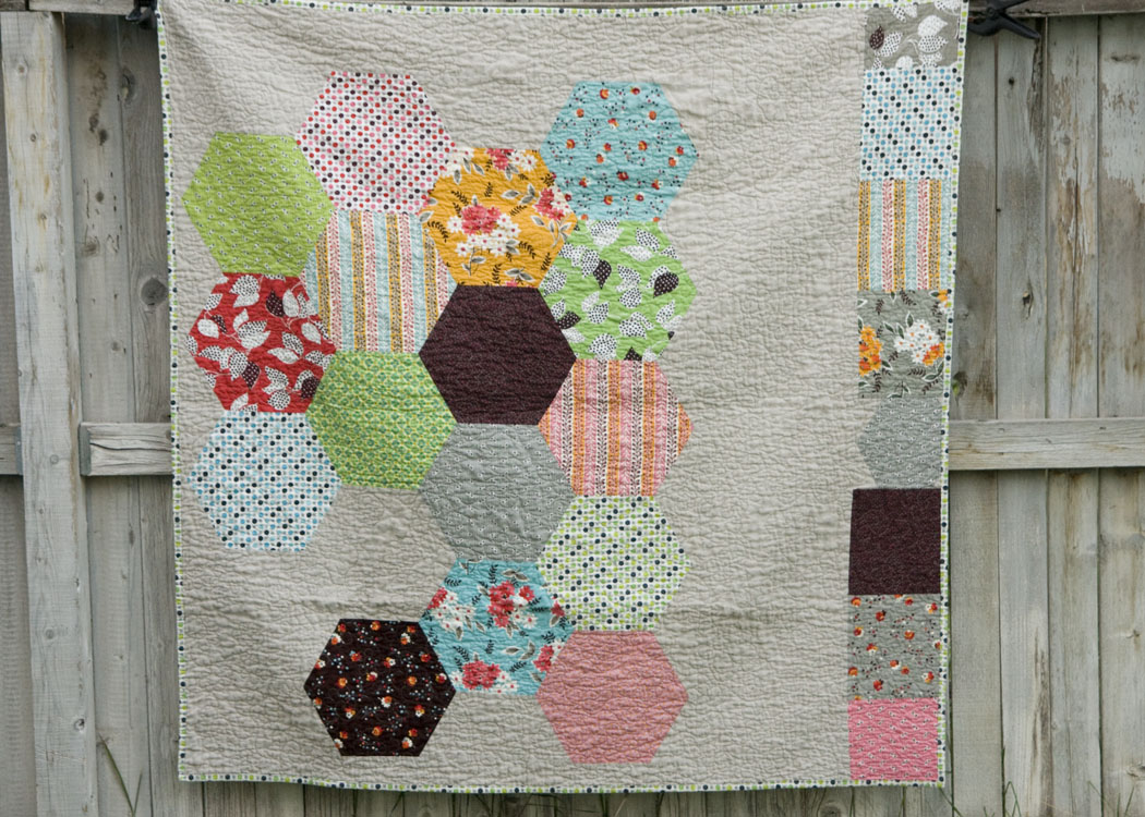 quilting hexagon templates free - from the blue chair tutorial cutting accurate hexagons