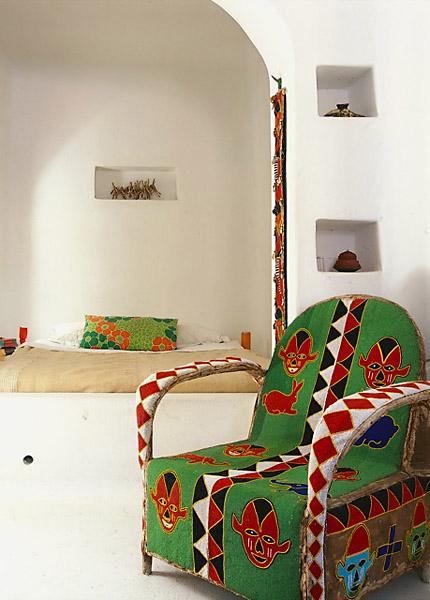 tejido con dibujos africanos