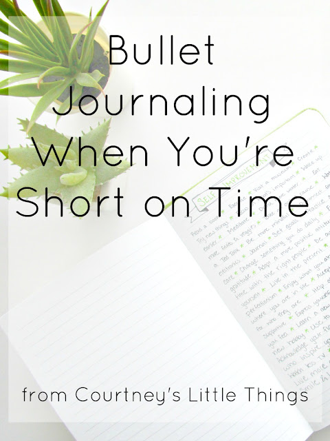 Bullet Journaling When You're Short on Time