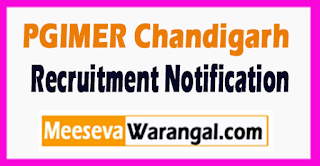 PGIMER Recruitment Notification 2017