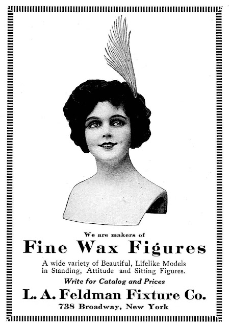 wax mannequin large photograph from 1914 advert