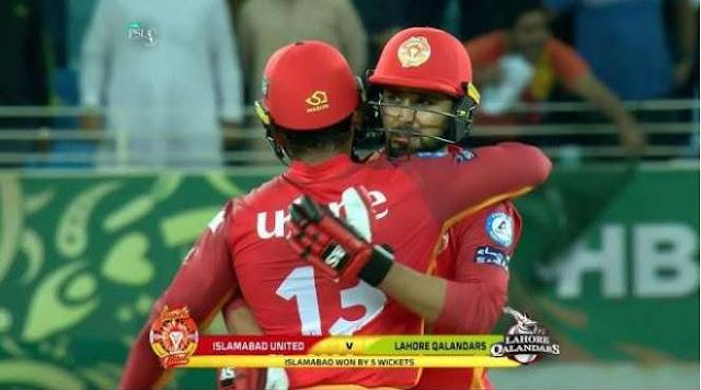PSL4, Defendant Champion Islamabad United beat Lahore Qalandar by 5 wickets