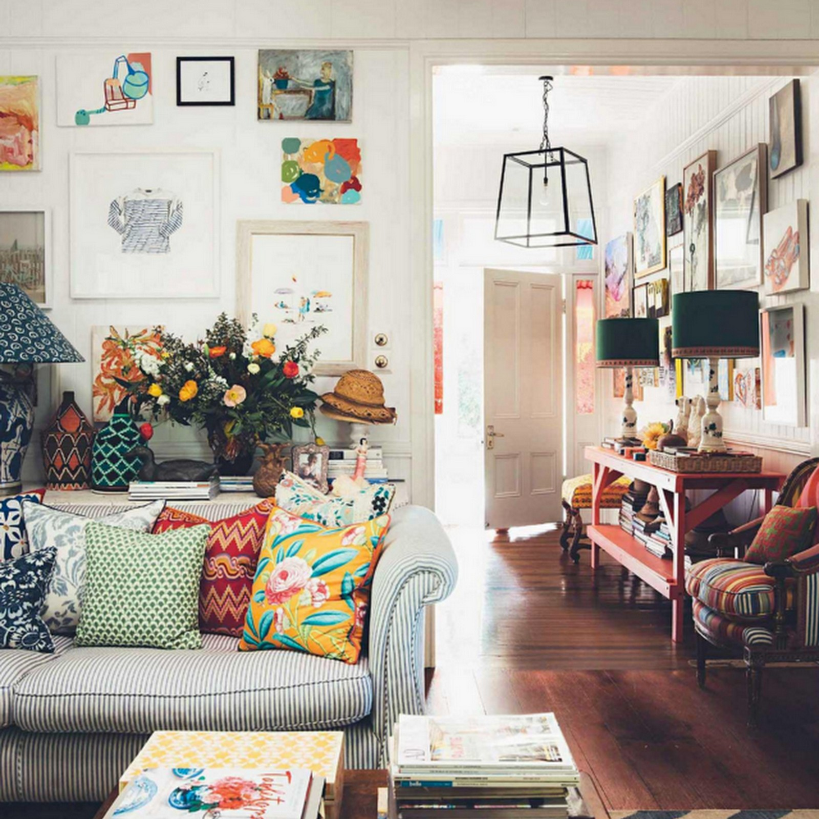 Decor inspiration at home with anna spiro 39 s colourful for Full house home interior