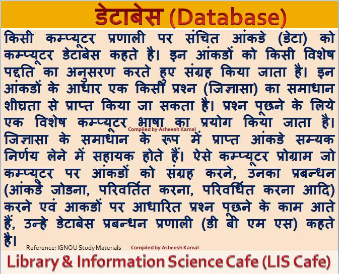 डेटाबेस क्या है  (What is Database)