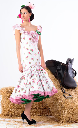 traje flamenca corto de mujer Margarita Freire