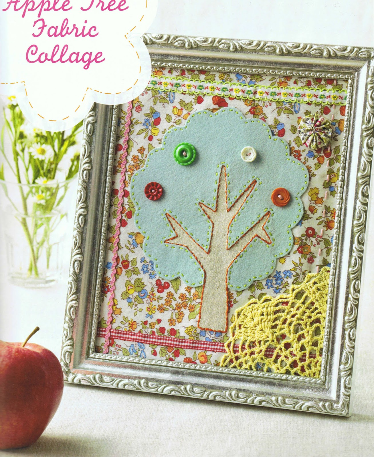 image sew darn cute jenny ryan fabric collage tree apple book review