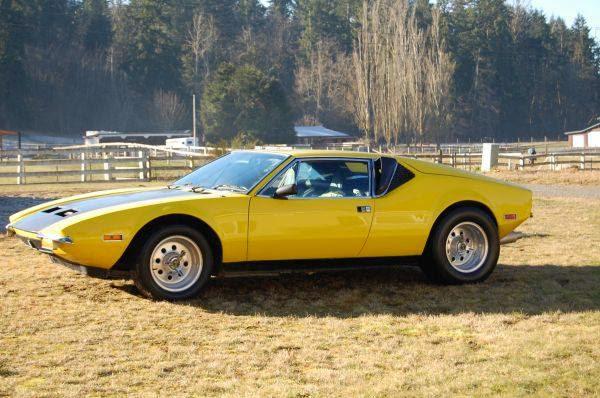 Yellow Panther 1972 De Tomaso Yellow Pantera Auto
