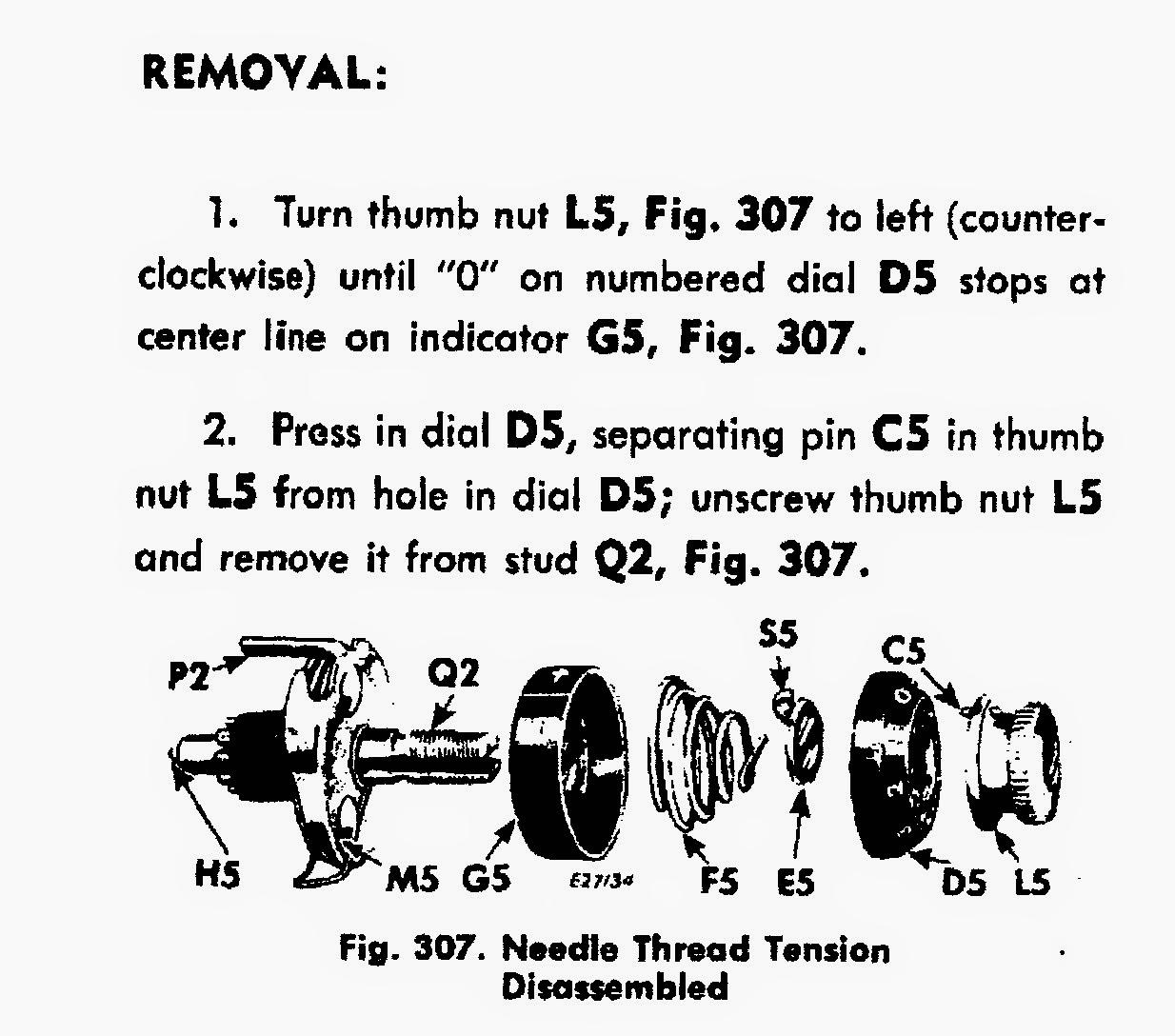 Vintage Sewing Machines Singer 401 403 404 Tension Adjustment