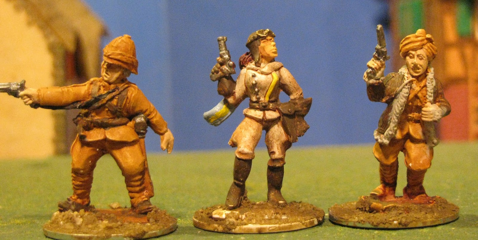 Fish Tales: A few figures for Pulp adventures snuck through the