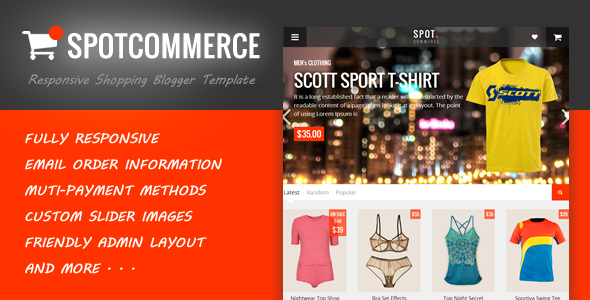 SpotCommerce v1.3.1 – Blogger Shopping Template
