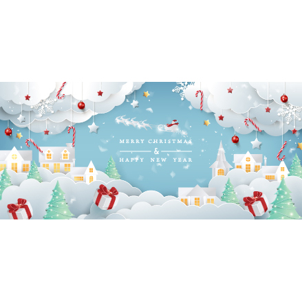 Paper creative christmas background card free vector
