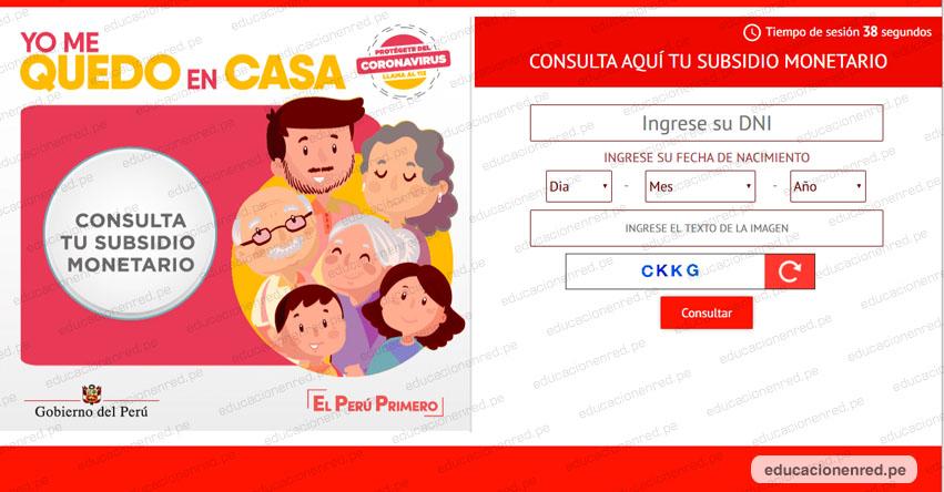 MIDIS: Lista de beneficiarios que podrán cobrar Bono de S/ 380 [INGRESA TU DNI EN APLICATIVO WEB] www.bono.yomequedoencasa.pe