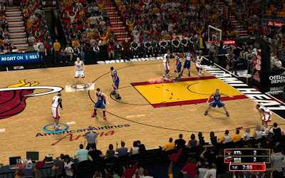 NBA 2K13 Miami Heat Court Patch