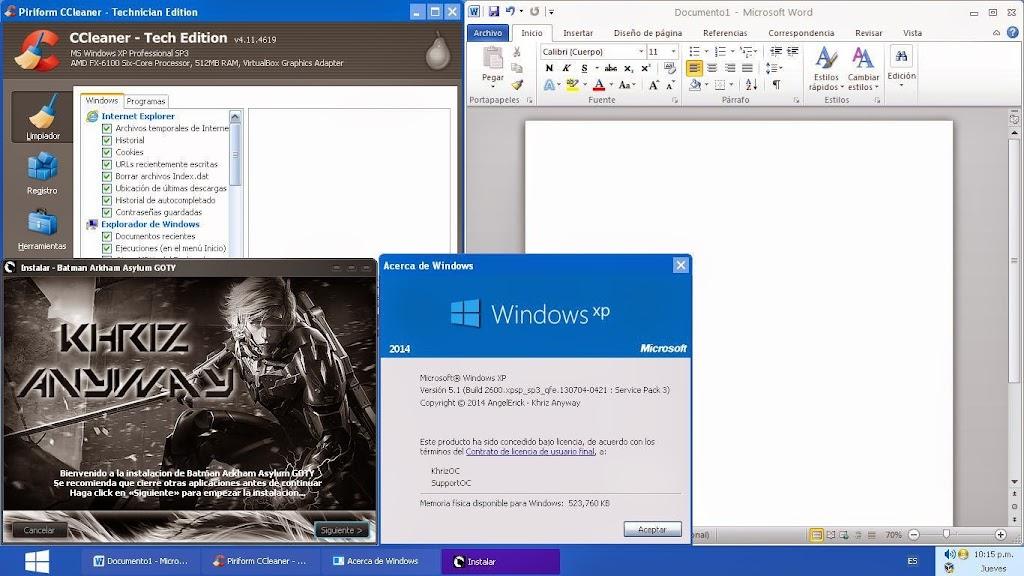Cap3 - Windows XP AyE-RX 2k14 [Español] [2014] [ULD]