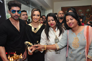 Bollywood Actress Sana Khan Launches Aakrithi Exibition  0299.JPG
