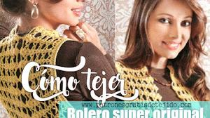 Bolero Crochet muy original / PAP DIY
