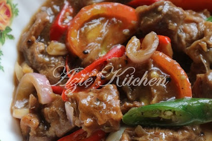 Resepi Daging Masak Black Pepper Azie Kitchen