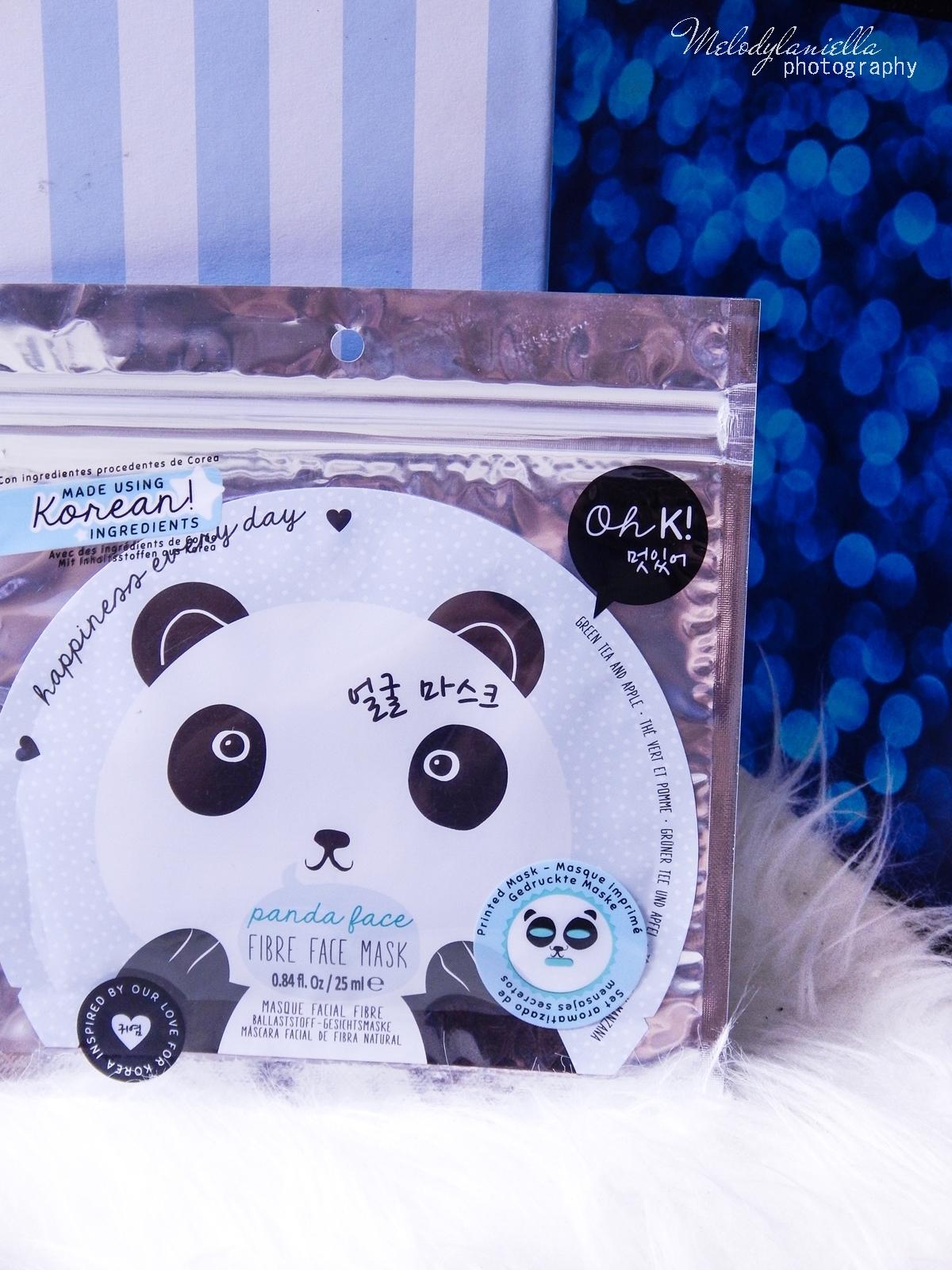 5 Oh! K Life koreańskie kosmetyki i gadżety słodkie dziewczęce dodatki maska do twarzy panda kosmetyczka w kształcie pandy lodowe płatki chłodzące okłady na oczy przeciw sińcom jak pozbyć się sińców pod oczami