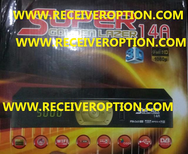 SUPER GOLDEN LAZER 14A HD RECEIVER POWERVU KEY NEW SOFTWARE