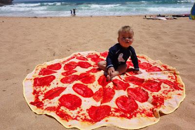 Una toalla gigante para la playa