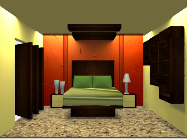 Foundation dezin decor 3ds max vray bedroom 1 2 for Decoration 3ds max