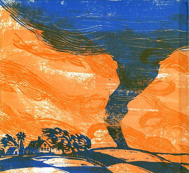 Robert Quackenbush illustration of a tornado