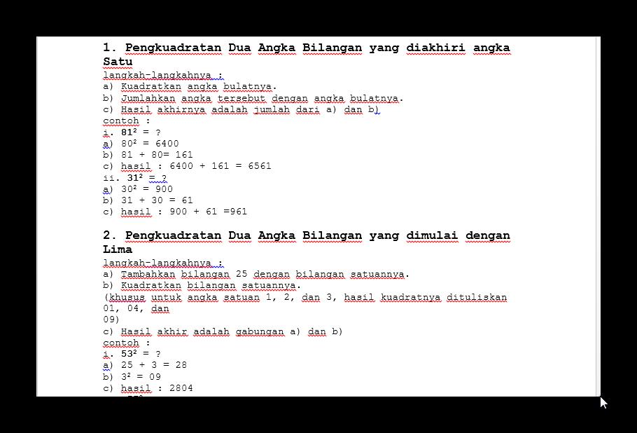 Download Rumus Rumus Dasar Perhitugan Cepat Matematika