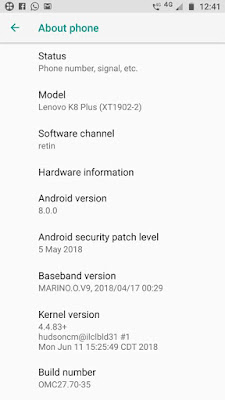 Lenovo K8 Plus gets Android 8.0 Oreo Update in India