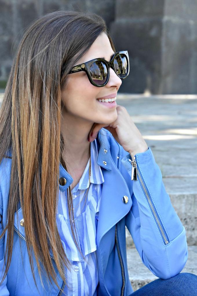 giacca di pelle colorata: come indossare questo capo glam