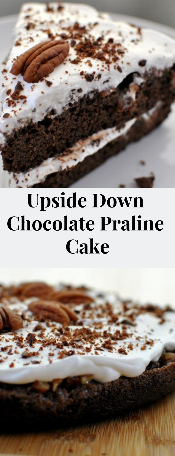 Upside Down Chocolate Praline Cake #American #cake #dessert #keto #lowcarb