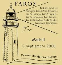 Matasellos PDC de la Hoja Bloque de Faros 2008