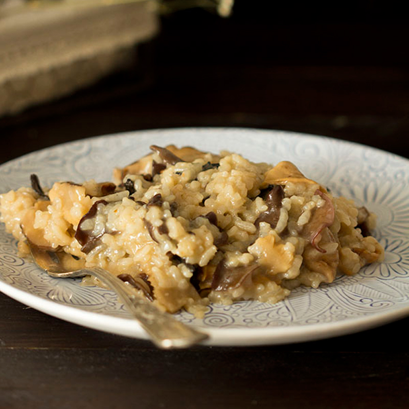 receta risotto con setas thermomix