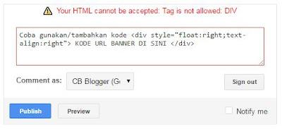 Cara Menuliskan Kode HTML di Komentar Blog