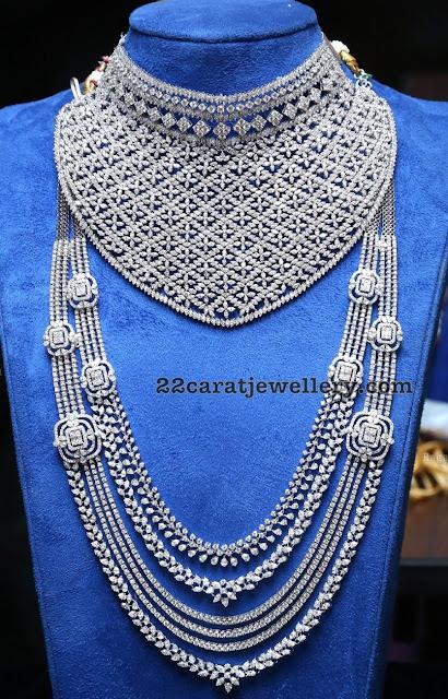 Heavy Diamond Choker Haram with White Gold