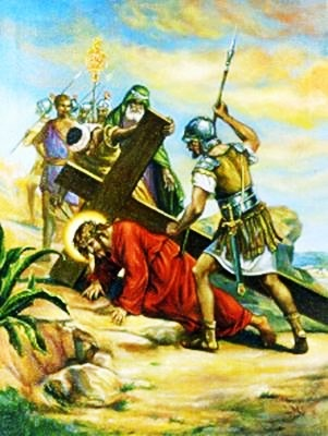 Viacrucis 7 - Jesus Cae Por Segunda Vez