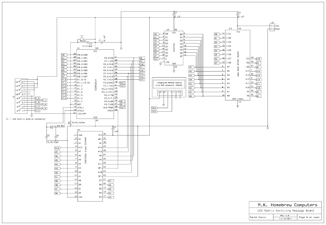 Homebrew Computers: 8051-based LED Matrix Scrolling