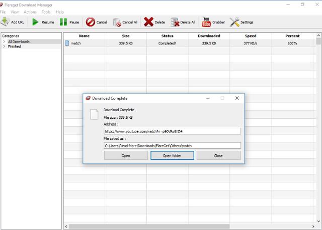 تحميل برنامج تحميل الملفات السريع FlareGet البديل لبرنامج أنترنت داونلاود منجر