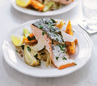 roasted salmon and vegetables recipe